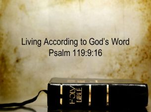 Living According to God's Word Psalm 119:9:16
