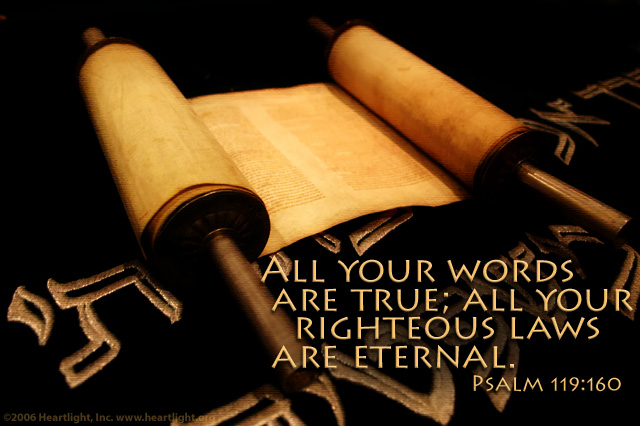 Psalm 119 160 truth