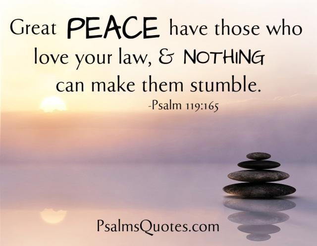 Psalm 119 165 peace
