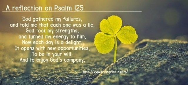 Psalm 125 reflection