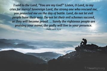 Psalm 140 plea for mercy