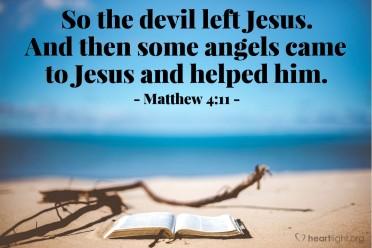 Matthew 4 devil left