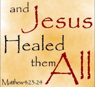 Matthew 4 Jesus heals