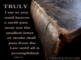 Matthew 5 law