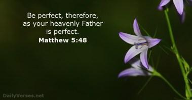 Matthew 5 perfect