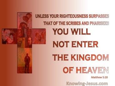 Matthew 5 pharisees