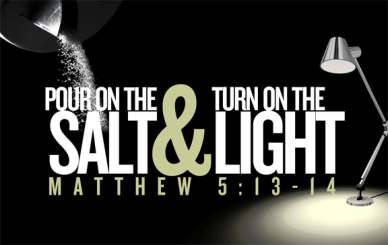 Matthew 5 pour and turn on the light