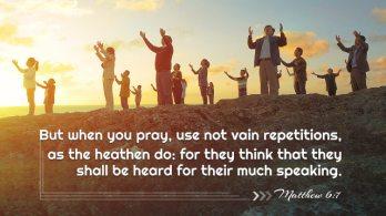 Matthew 6 7