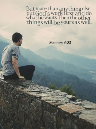 Matthew 6 God first