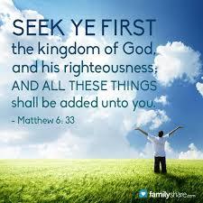 Matthew 6 seek first