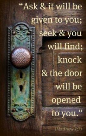 Matthew 7 ask and seek