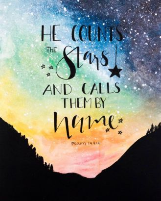 Psalm 147 stars