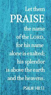 Psalm 148 our praises