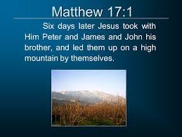 Matthew 17 1
