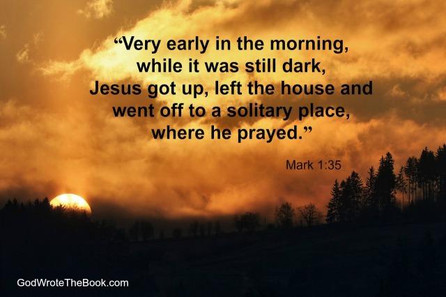 Mark 1 Jesus prayed