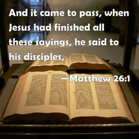 Matthew 26 saying