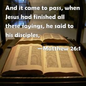 Matthew 26 saying