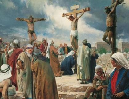 Matthew 27 crucified