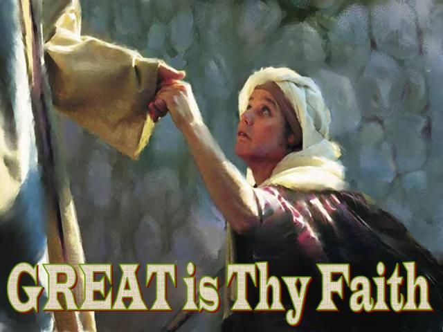 Mark 7 faith great