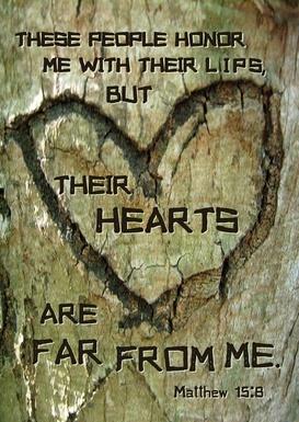 Mark 7 wood heart