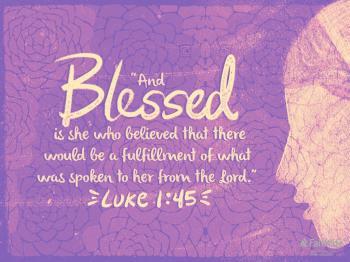 Luke 1 blessed