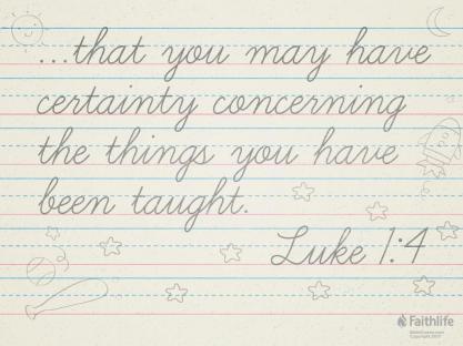 Luke 1 certainty