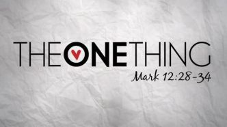Mark 12 one thing