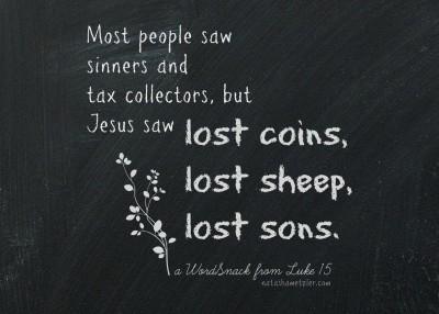 Luke 15 Jesus saw