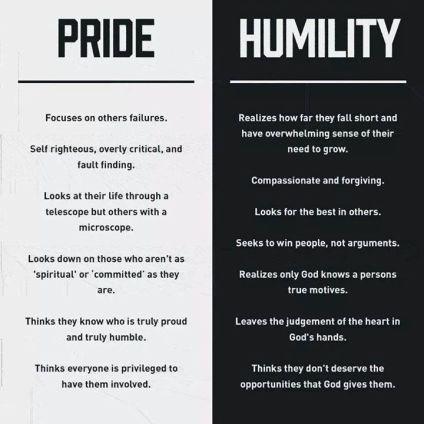 Luke 18 comparisons pride vs humility