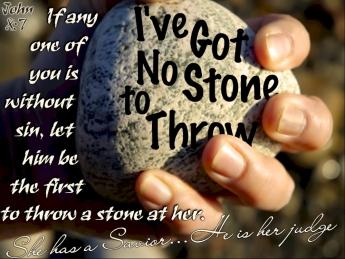 John 8 no stone