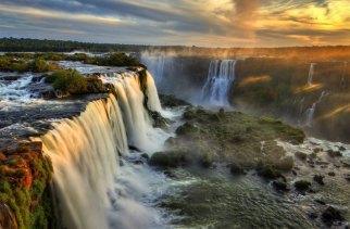 Genesis 1 waterfalls and land