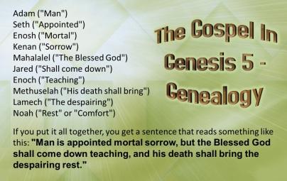 Genesis 5 gospel from Gen