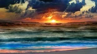 Genesis sky and sea