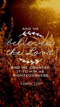 Genesis 15 believed