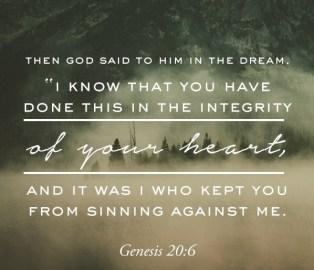 Genesis 20 6