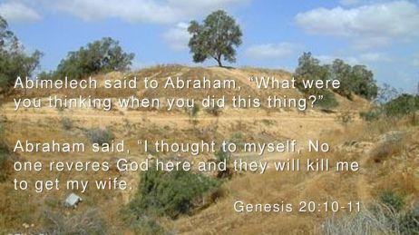 Genesis 20 what were