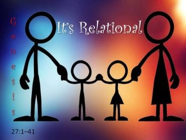 Genesis 27 relational