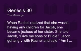Genesis 30 jealousy