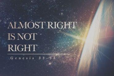 Genesis 33 almost