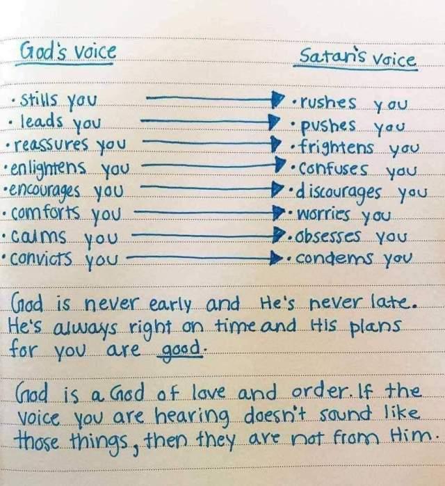 Gods voice vs Evils