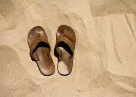 Exodus 12 sandals on