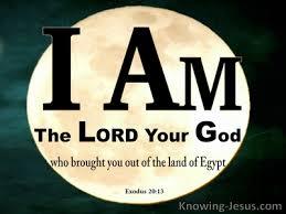 Exodus 13 I am