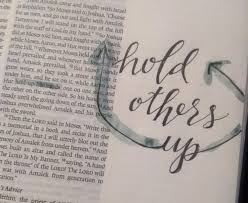 Exodus 17 hold each other up