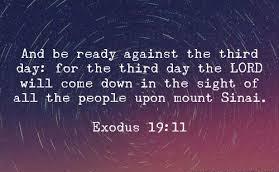 Exodus 19 day 3
