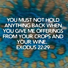 Exodus 22 don't hold back