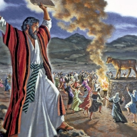Exodus 32 Moses throws down