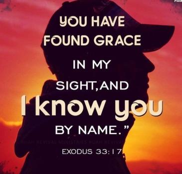 Exodus 33 I know you