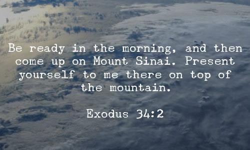 Exodus 34 go meet God