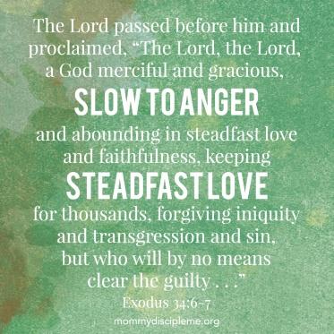 Exodus 34 God is