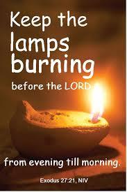 Exodus lamps burning